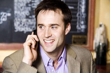 Businessman talking on the phone Stock Photo - 3194163