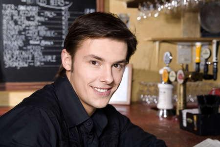 Waiter posing for the camera