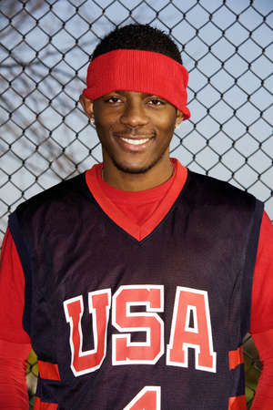 Man in sportswear smiling at the camera