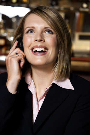 Businesswoman talking on the mobile phone