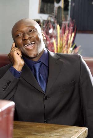 Businessman talking on mobile phone