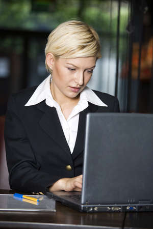 Businesswoman using laptop Stock Photo - 3194263