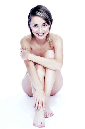 Naked woman smiling at the camera. Stock Photo - 3192107