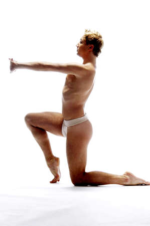 Man practising yoga. Stock Photo - 3192136