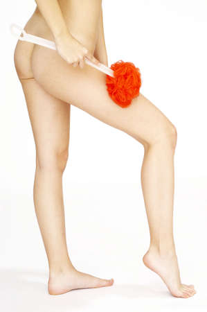 Waist down shot of woman cleaning her body. Stock Photo - 3192139