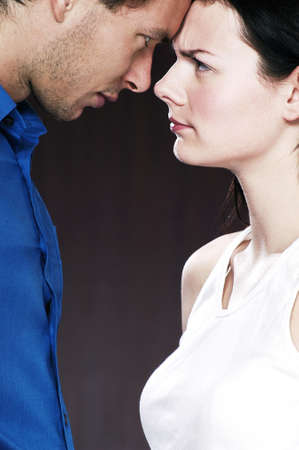 Couple looking at each other angrily. Stock Photo - 3192170