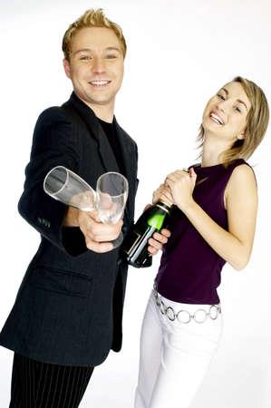 Couple celebrating. Stock Photo - 3192237