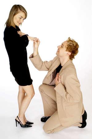 Man proposing to his girlfriend. Stock Photo - 3192244