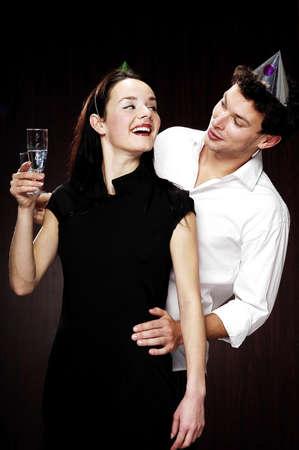 adoration: Couple celebrating.