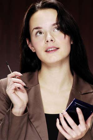 Businesswoman using PDA. Stock Photo - 3192357
