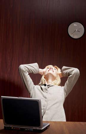 Businesswoman under depression. Stock Photo - 3192389