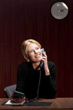 Businesswoman talking on the phone. Stock Photo - 3192409