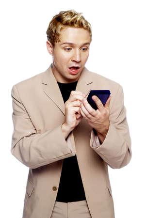 Businessman using PDA. Stock Photo - 3192410