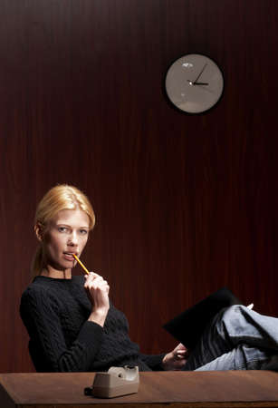 Businesswoman thinking. Stock Photo - 3192411
