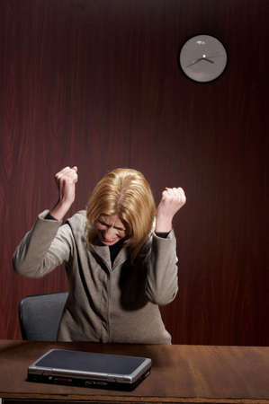 Frustrated businesswoman. Stock Photo - 3192439