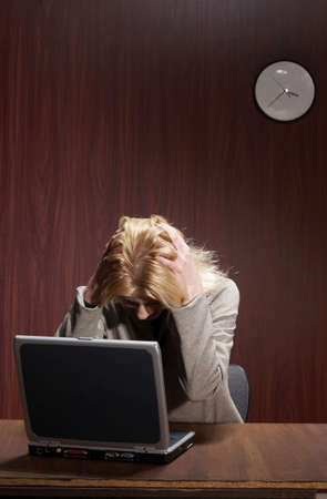Stressed out businesswoman. Stock Photo - 3192447