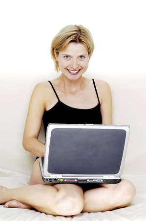 Woman using laptop. Stock Photo - 3192455