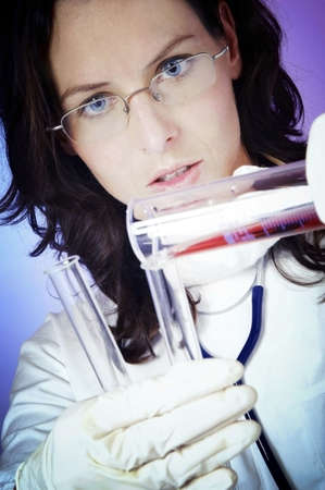 Female doctor working in the lab. Stock Photo - 3192457