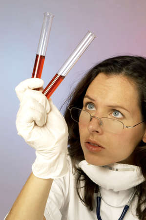 Female doctor working in the lab. Stock Photo - 3192485