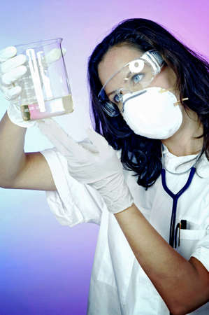 Female doctor working in the lab. Stock Photo - 3192493