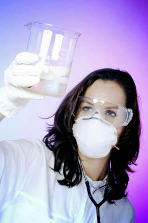 Female doctor working in the lab. Stock Photo - 3192504