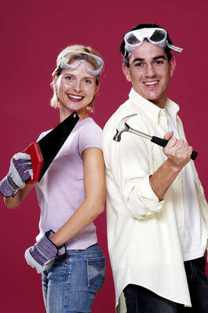 Couple getting ready for house renovation. Stock Photo - 3192519