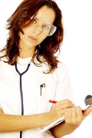 Female doctor on duty. Stock Photo - 3192524