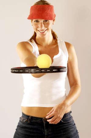 Female tennis player. Stock Photo - 3192528