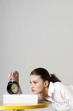 Woman checking the time. Stock Photo - 3192557