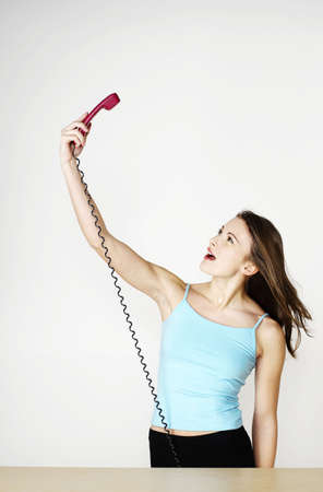Woman talking on the phone. Stock Photo - 3192583