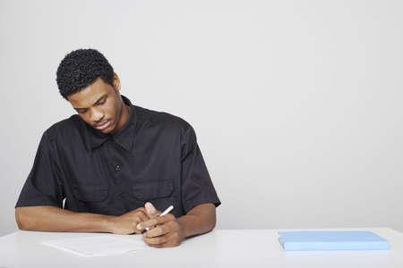 Man sitting for examination. Stock Photo - 3192588