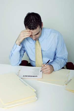 Businessman rushing his work. Stock Photo - 3192594