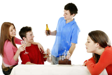 Birthday celebration. Stock Photo - 3192633