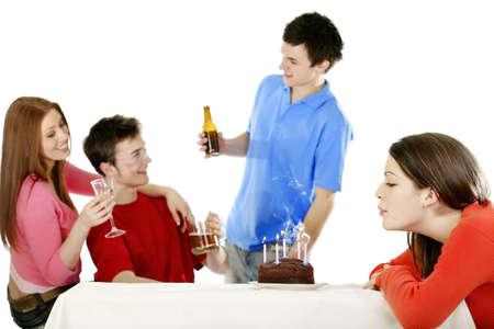 Birthday celebration. Stock Photo - 3192633