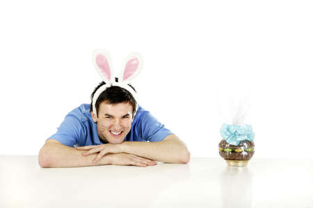 Man celebrating easter day.
