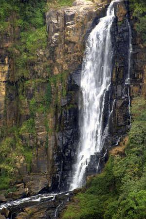 cascade mountains: Cascading waterfall.
