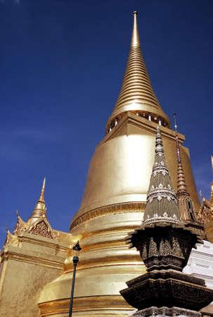 Golden Stupas at Wat Phra Kao, Bangkok, Thailand