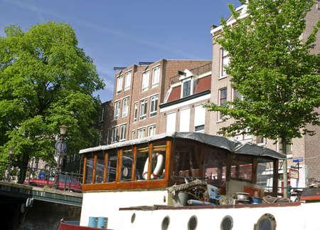 canal house: Canal casa architettura, Amsterdam, Olanda.