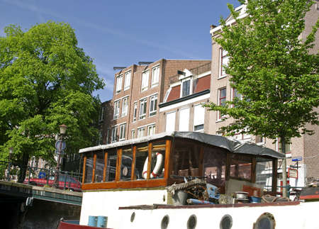 Canal house architecture, Amsterdam, Holland. Stock Photo - 3190907