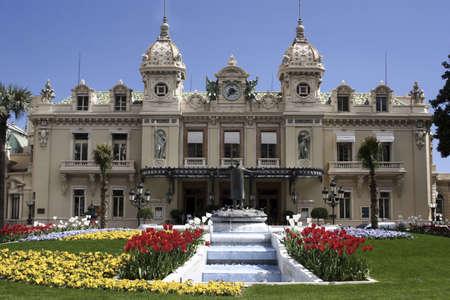beautiful location: Monte Carlo Casino and gardens in Monaco, France.