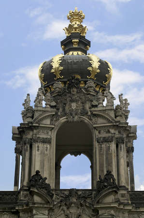 Crown Gate at Zwinger Palace in Dresden, Germany.