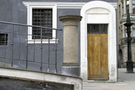 Wooden door of a house. Stock Photo - 3190939