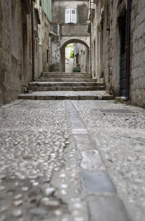 Dubrovnik, narrow street in the old city. Stock Photo - 3190941