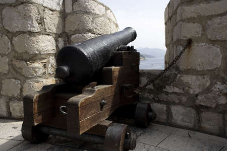 Canon at a fort in Dubrovnik. Stock Photo - 3190949