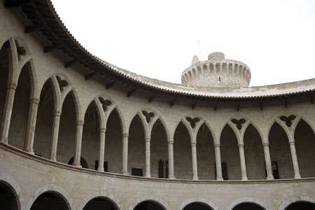 Bellver Castle, 14th century, Palma de Mallorca, Majorca, Balearic Islands, Spain. Stock Photo - 3190965