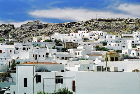Panoramic picture of the town of Mykonos. Stock Photo - 3190992