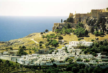 Panoramic picture of the town of Mykonos. LANG_EVOIMAGES
