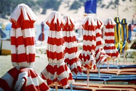 Beach chairs and umbrellas. Stock Photo - 3191009