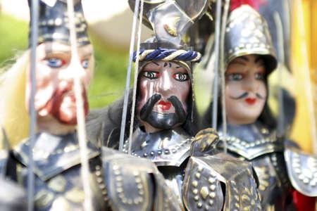 Knight statues.