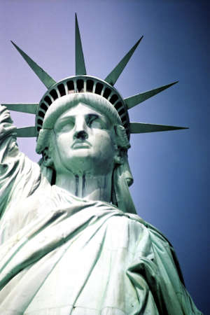 the place is outdoor: Statue of Liberty, USA.